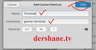 Terminali kısayol olarak ekleme